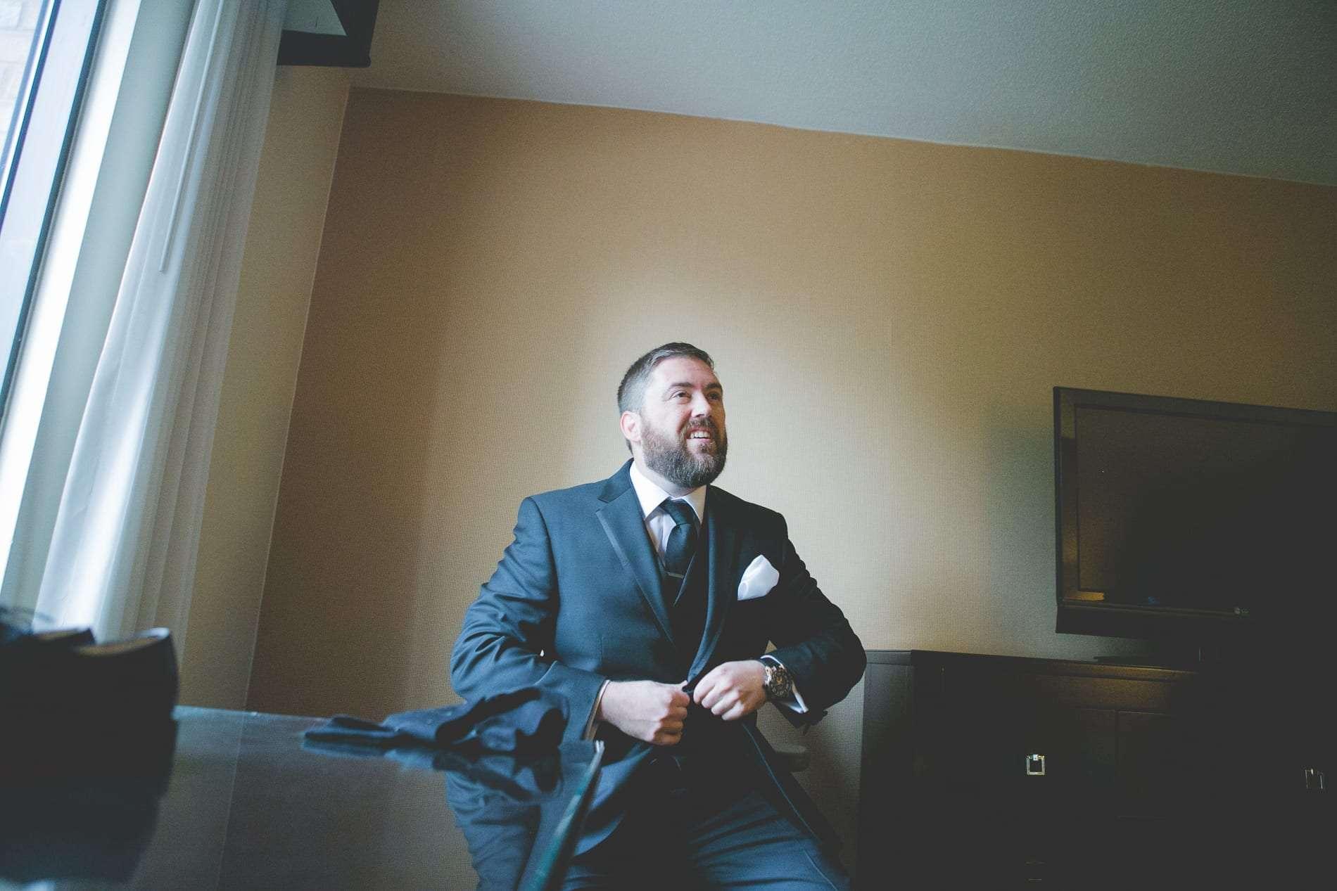 Philadelphia wedding photographer groom getting ready