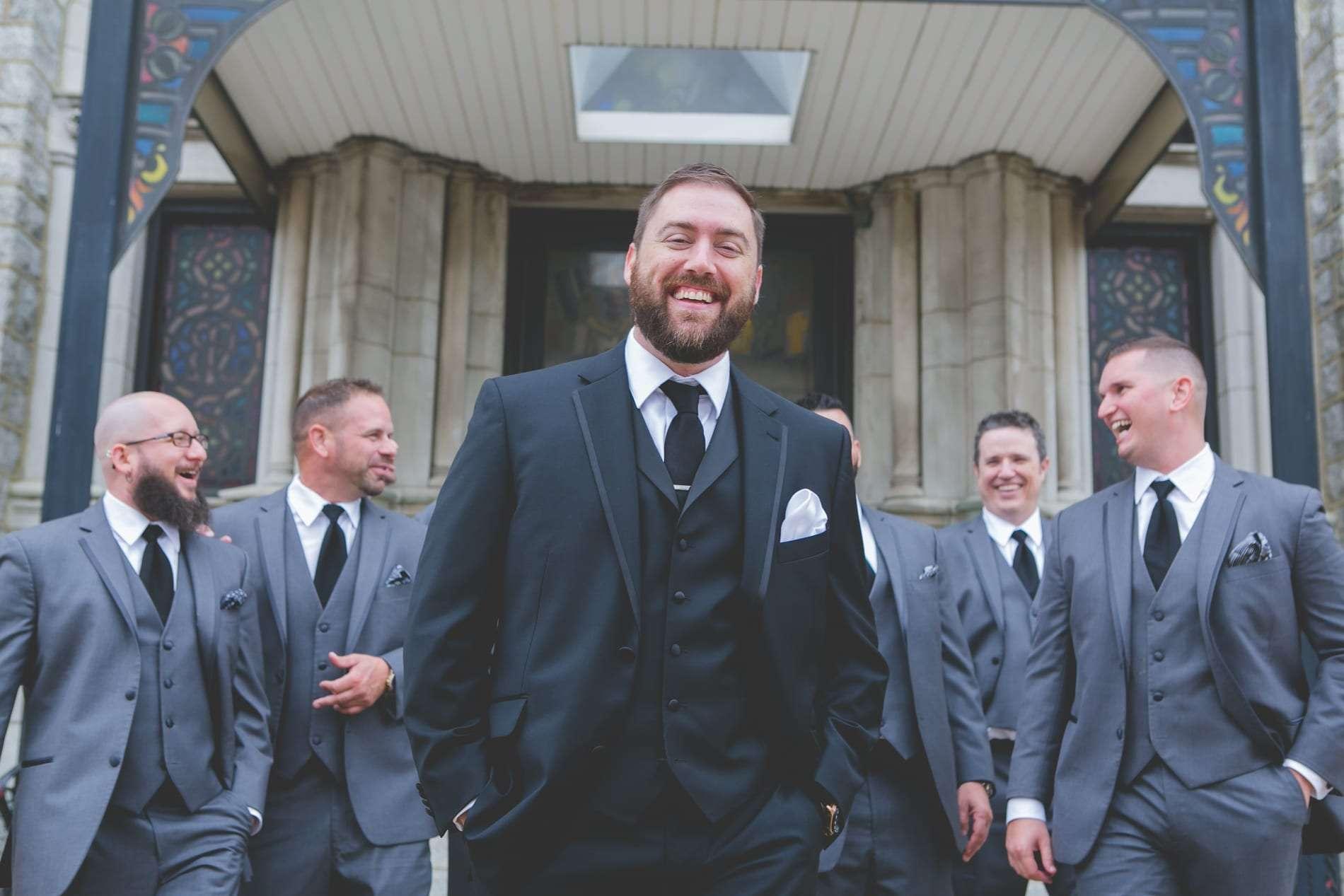 Groom and groomsmen portraits philly wedding photographer