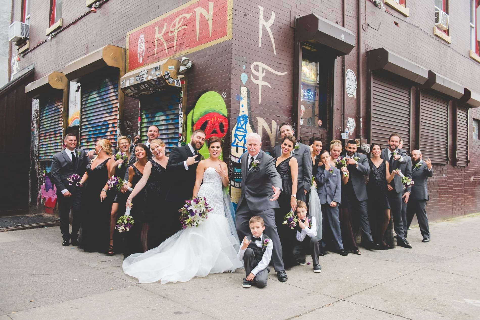 Fishtown wedding photography with wedding party