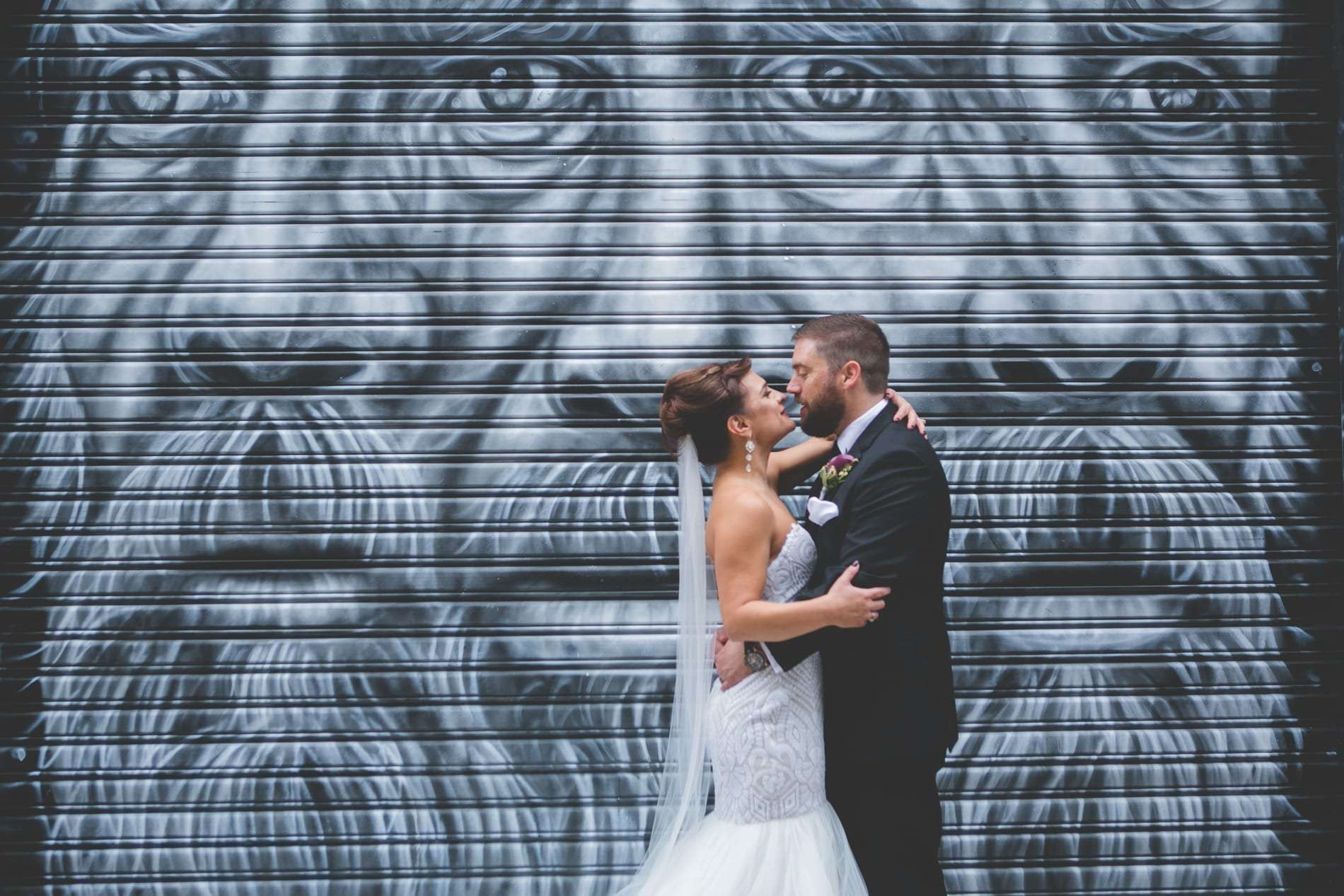 Creative philadelphia wedding photography around fishtown
