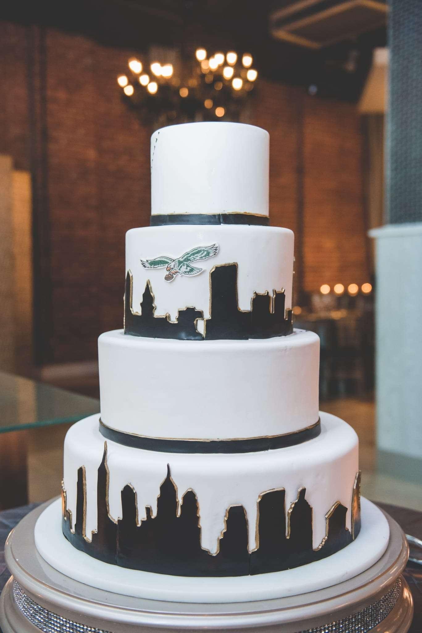 Philadelphia eagles wedding cake