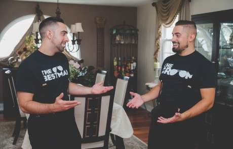 Fun groom and groomsmen photos Philadelphia photographer