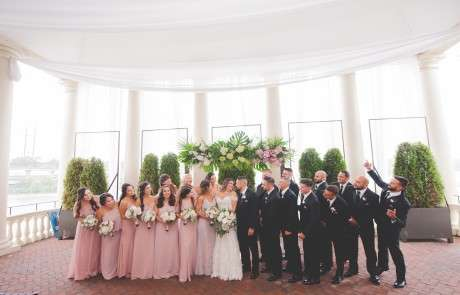 Bridal Party wedding photos Water Works Philadelphia