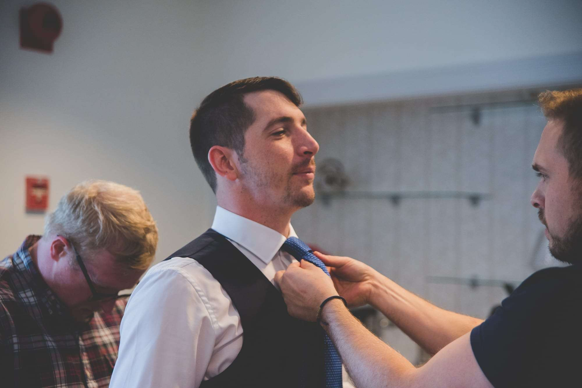 Main line wedding photography at Villanova Inn