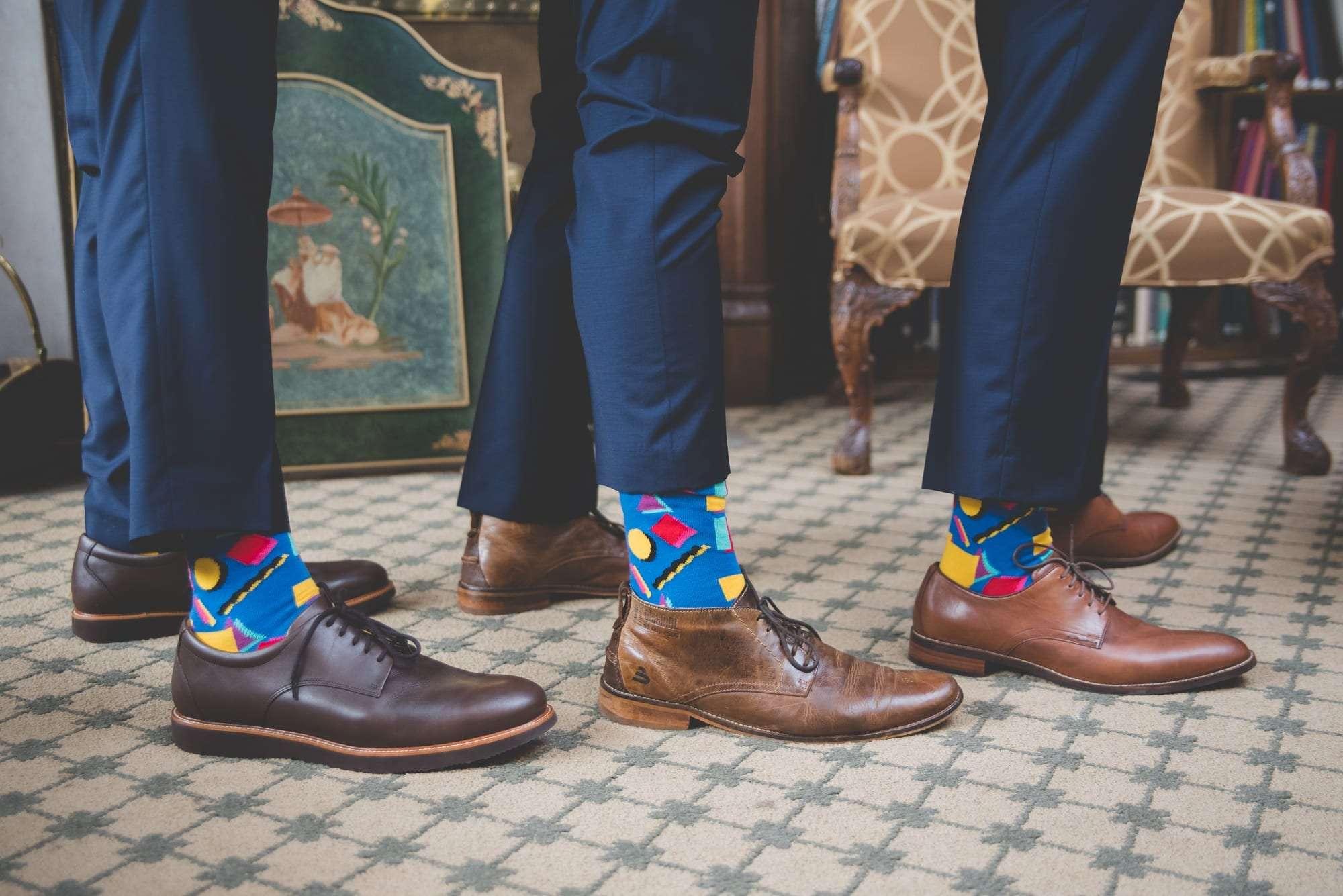 groomsmen matching socks philadelphia wedding planner