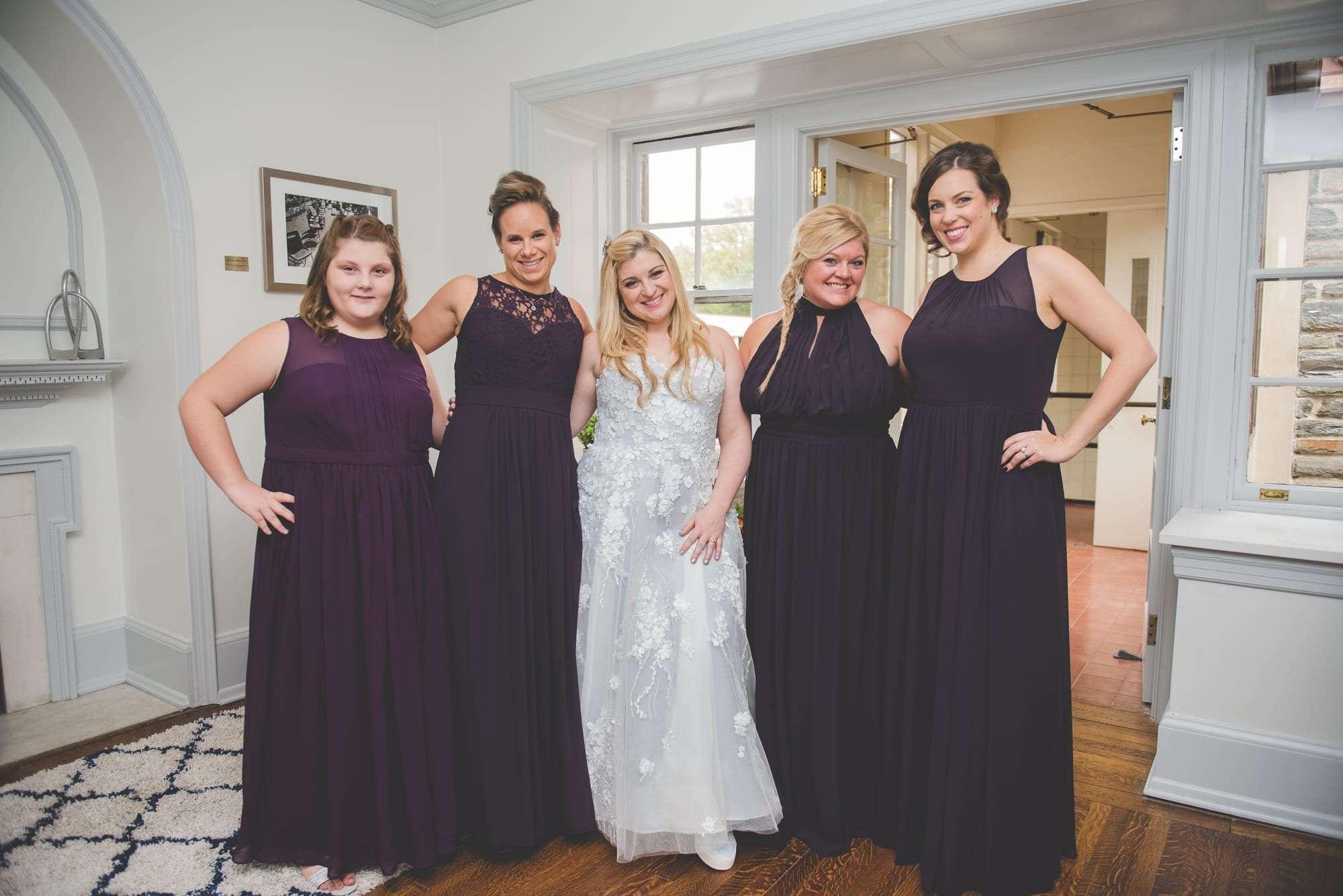 bridal suite at Villanova Inn Main line wedding photography