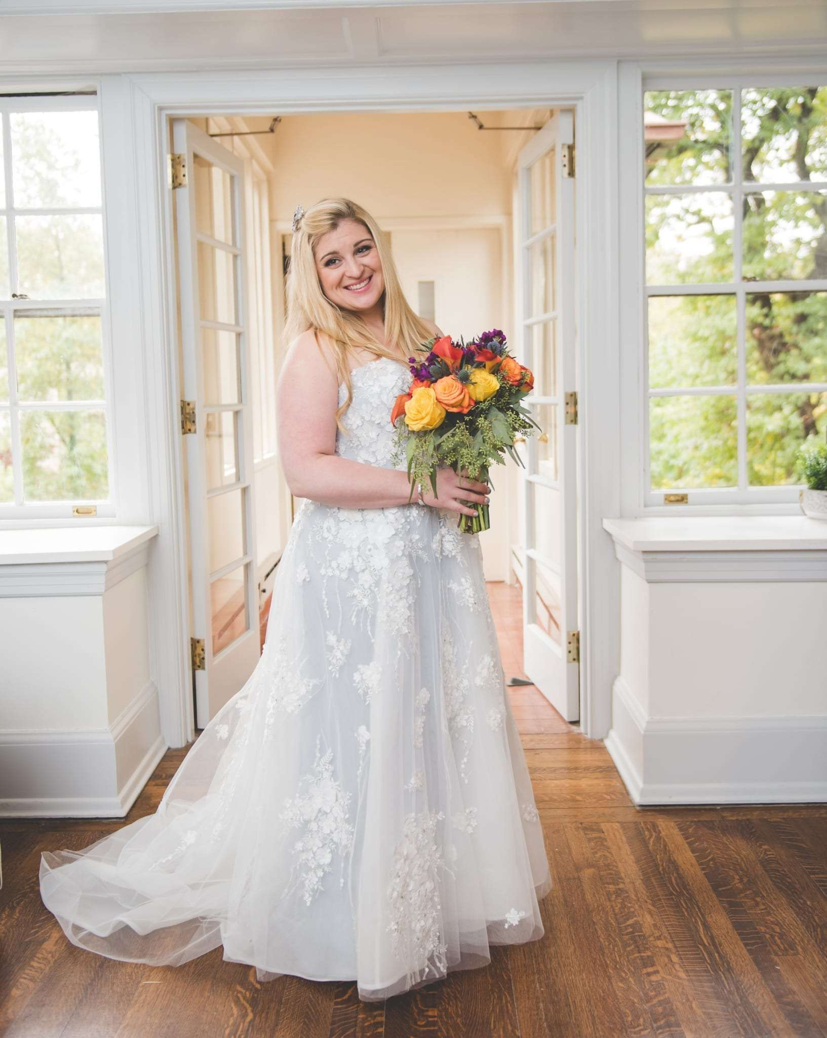 Bride portraits Villanova Inn wedding photography