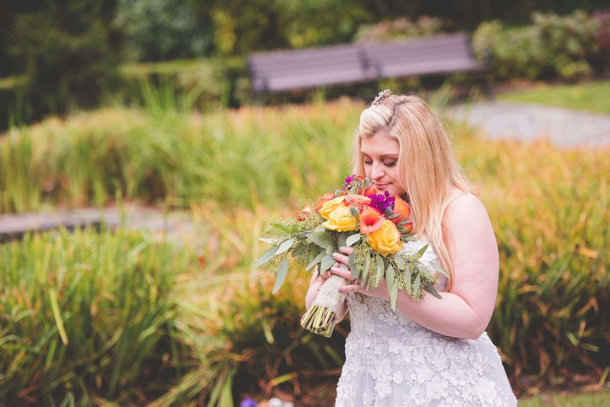Fall wedding photos at Villanova Inn PA