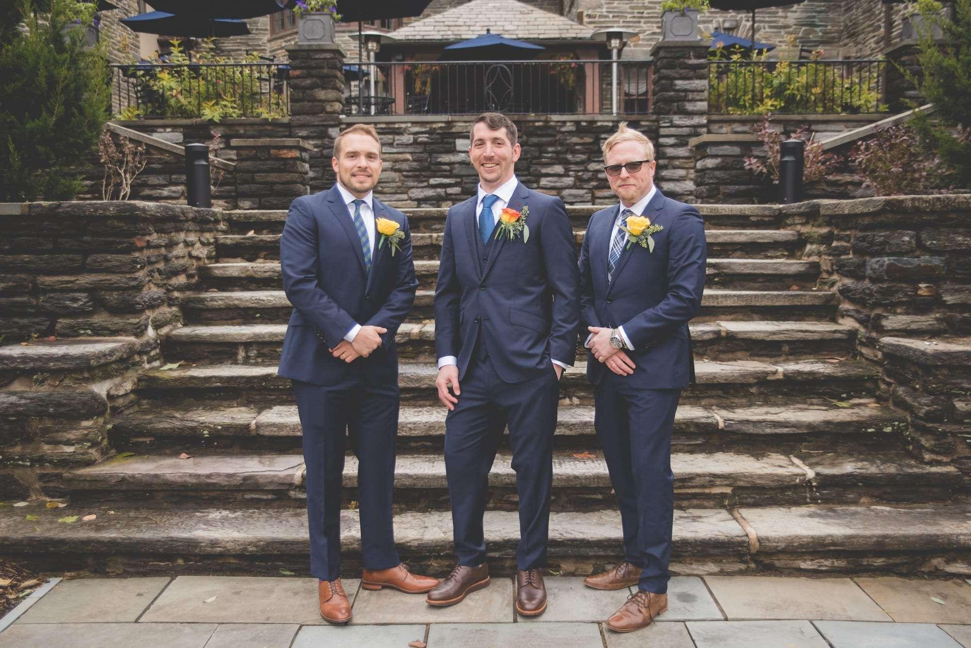 groomsmen photos Villanova Inn wedding