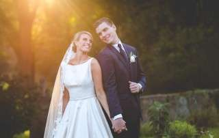 sunset wedding photos Inn at Barley Sheaf Wedding
