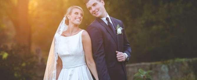 sunset wedding photos Inn at Barley Sheaf Wedding