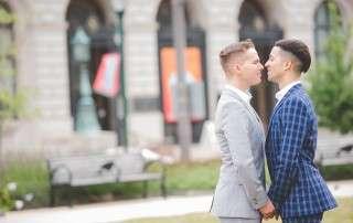 Same sex micro wedding photographer in Philadelphia