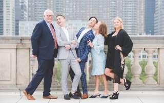 Philadelphia rooftop wedding photos