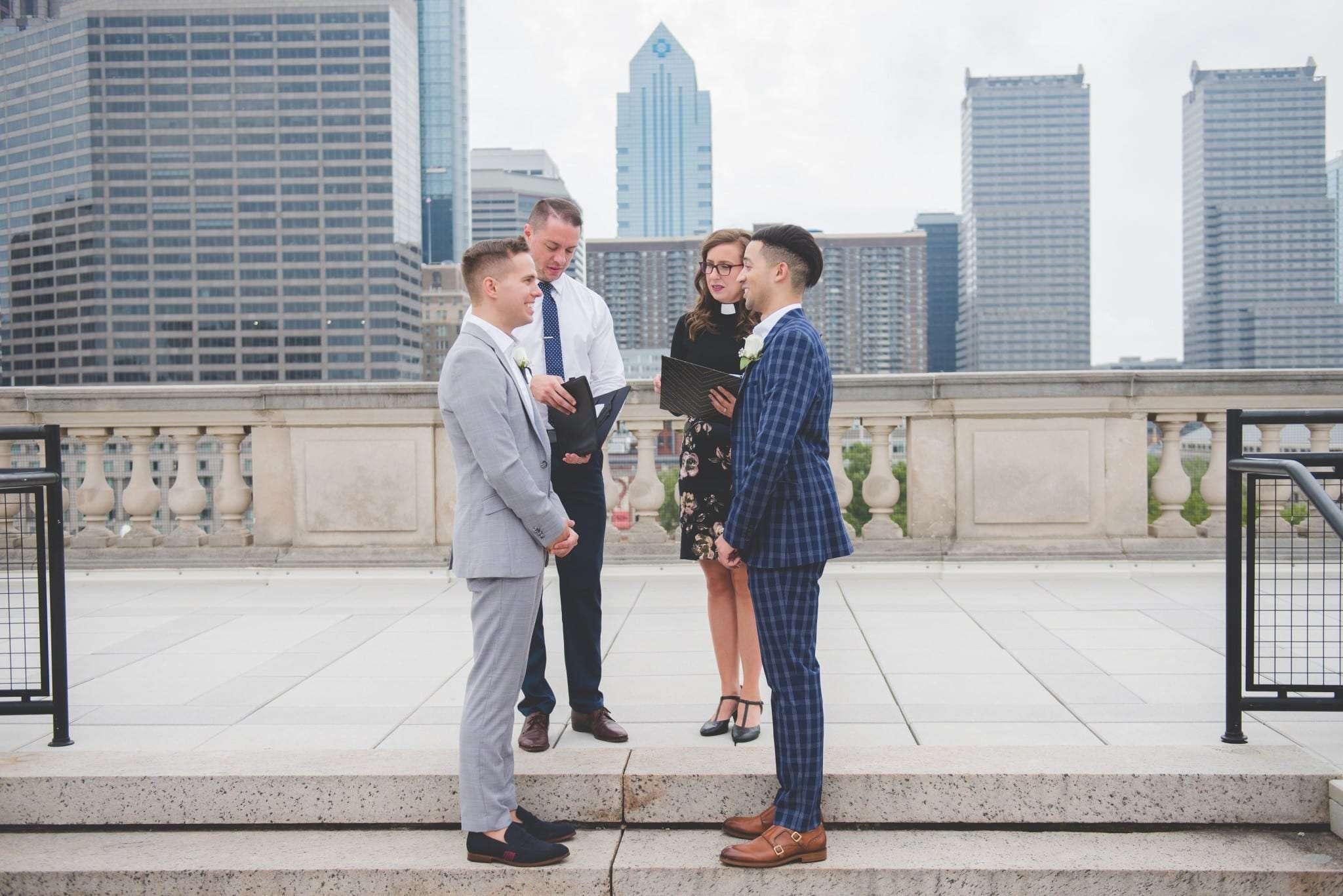 Philadelphia rooftop elopement photography