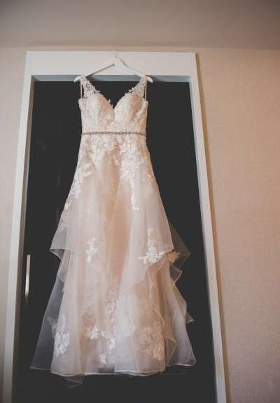 BHLDN wedding dress the shiny thimble alterations Philadelphia wedding vendors