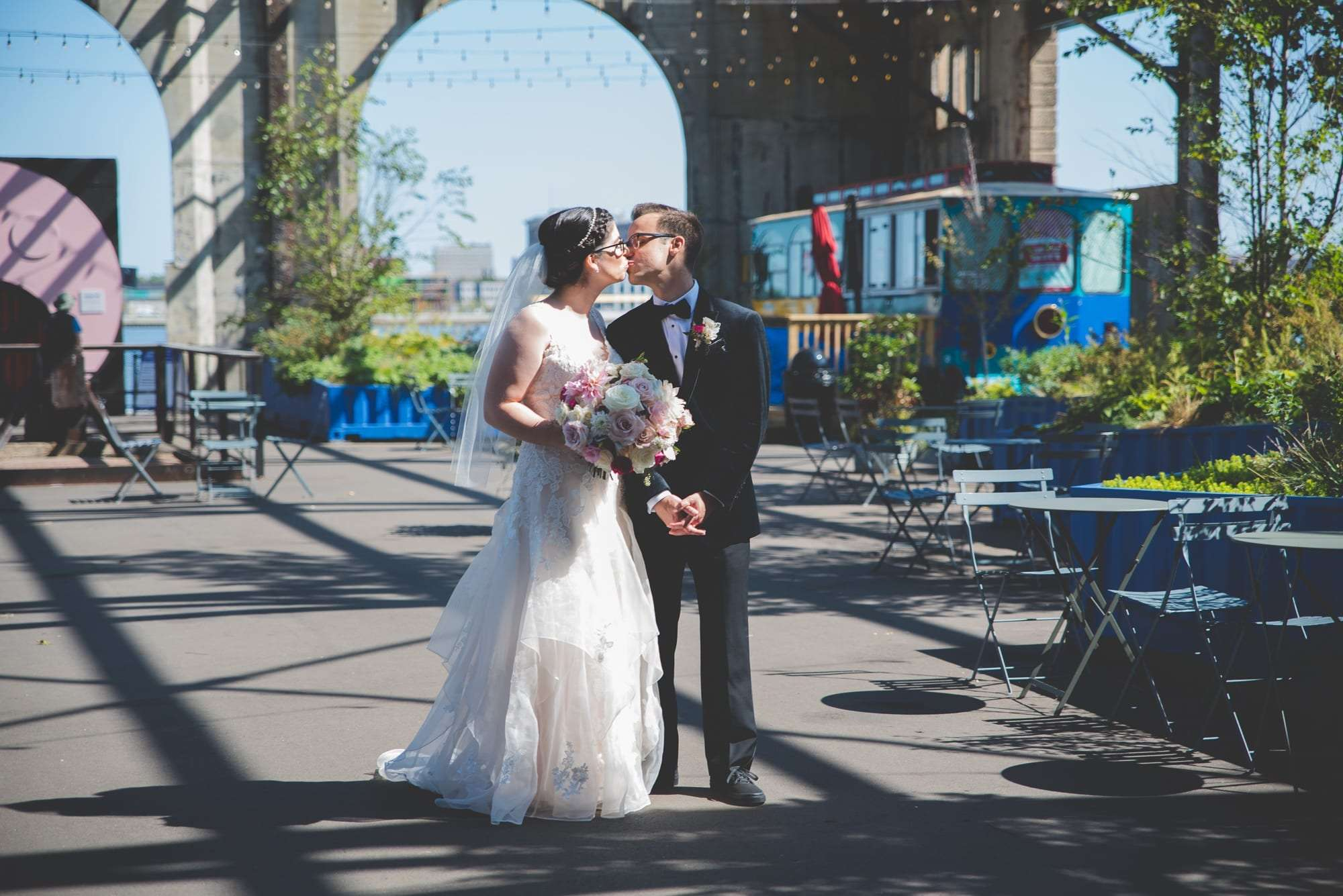 Wedding photos at cherry street pier philadelphia cool wedding locations
