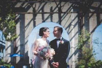 Unique locations for wedding photos cherry street pier philadelphia