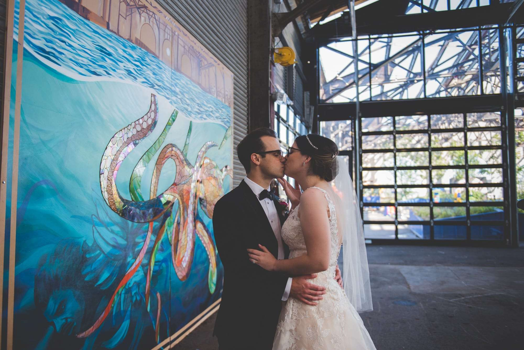Philadelphia murals and wedding photo locations cherry street pier