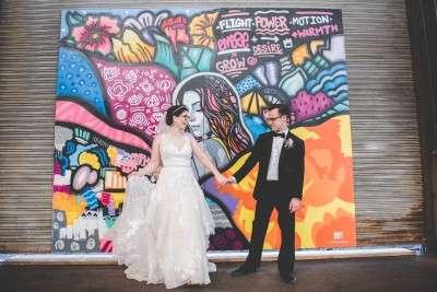 tiny room for elephants painting wedding photos backdrop cherry st pier