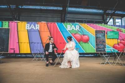 artistic places for wedding photos Cherry street pier philly