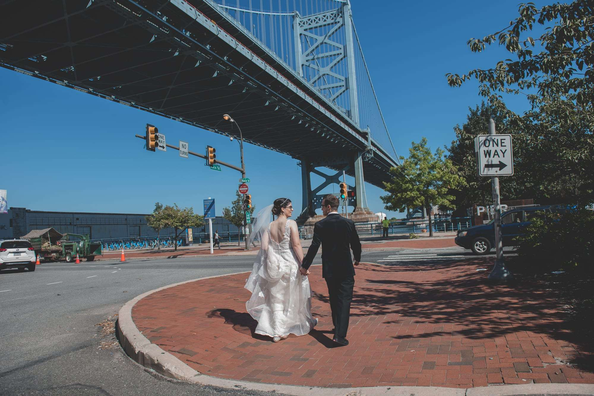race street pier wedding photos