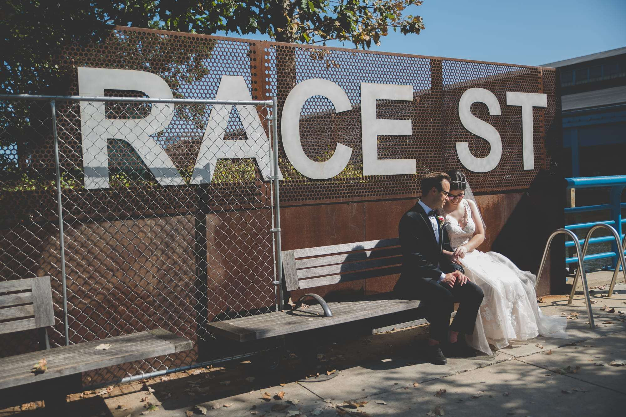 Philadelphia wedding at race street pier Philly