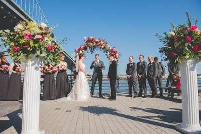 Race street pier wedding ceremony Philadelphia unique places for a wedding