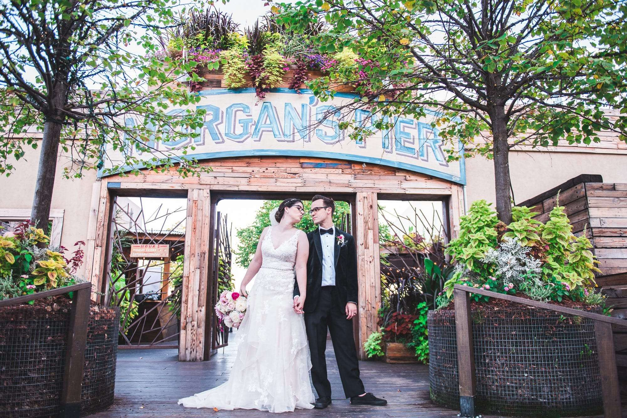 Philadelphia wedding photos at morgan street pier