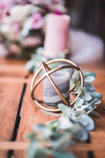 chich wedding decor gold sphere