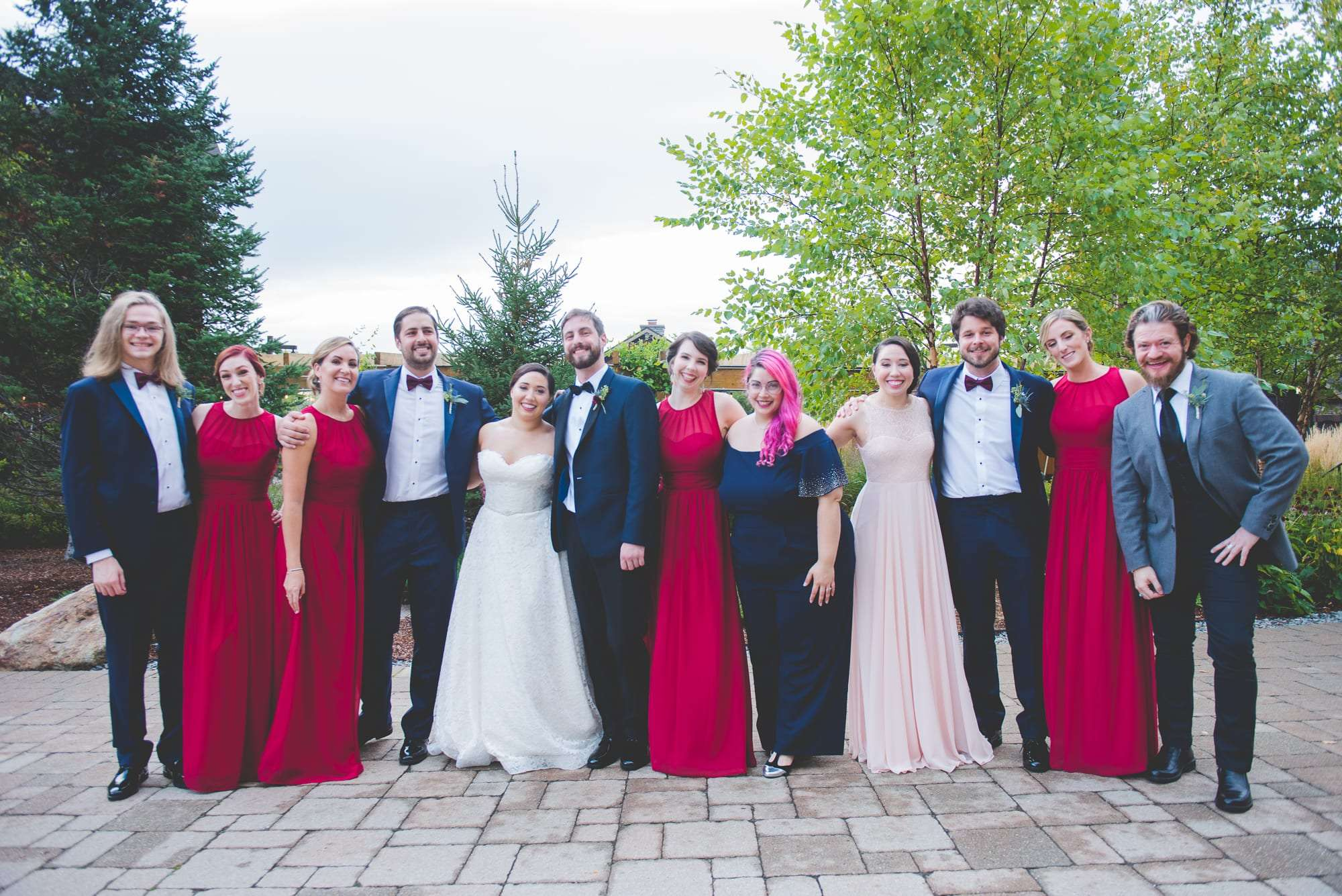 Bridal party at The Lodge at Spruce Peak Wedding VT