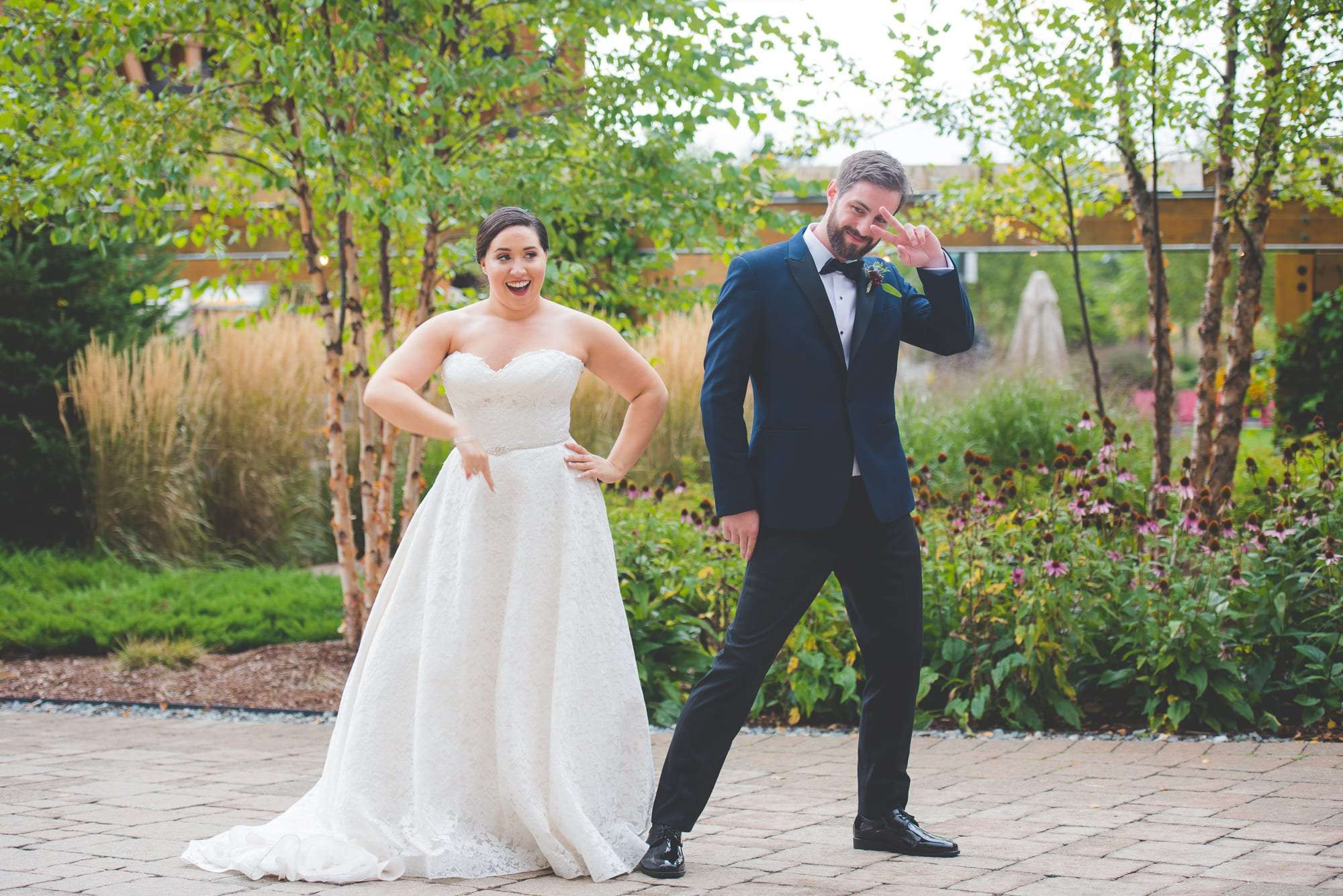 Fun wedding photos The Lodge at Spruce Peak Wedding VT