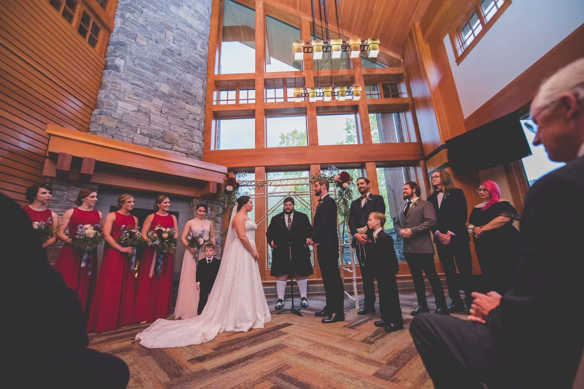 rustic wedding stowe VT mountain resort