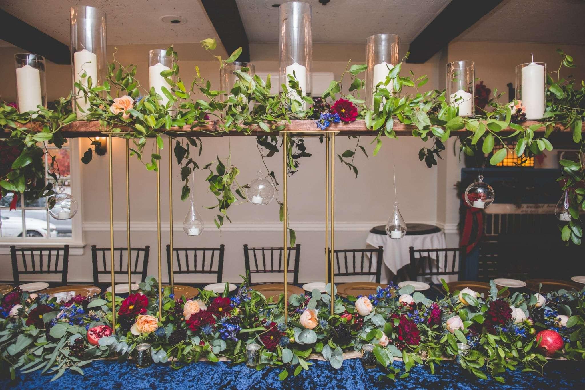 Micro wedding decor Smithville Inn NJ wedding