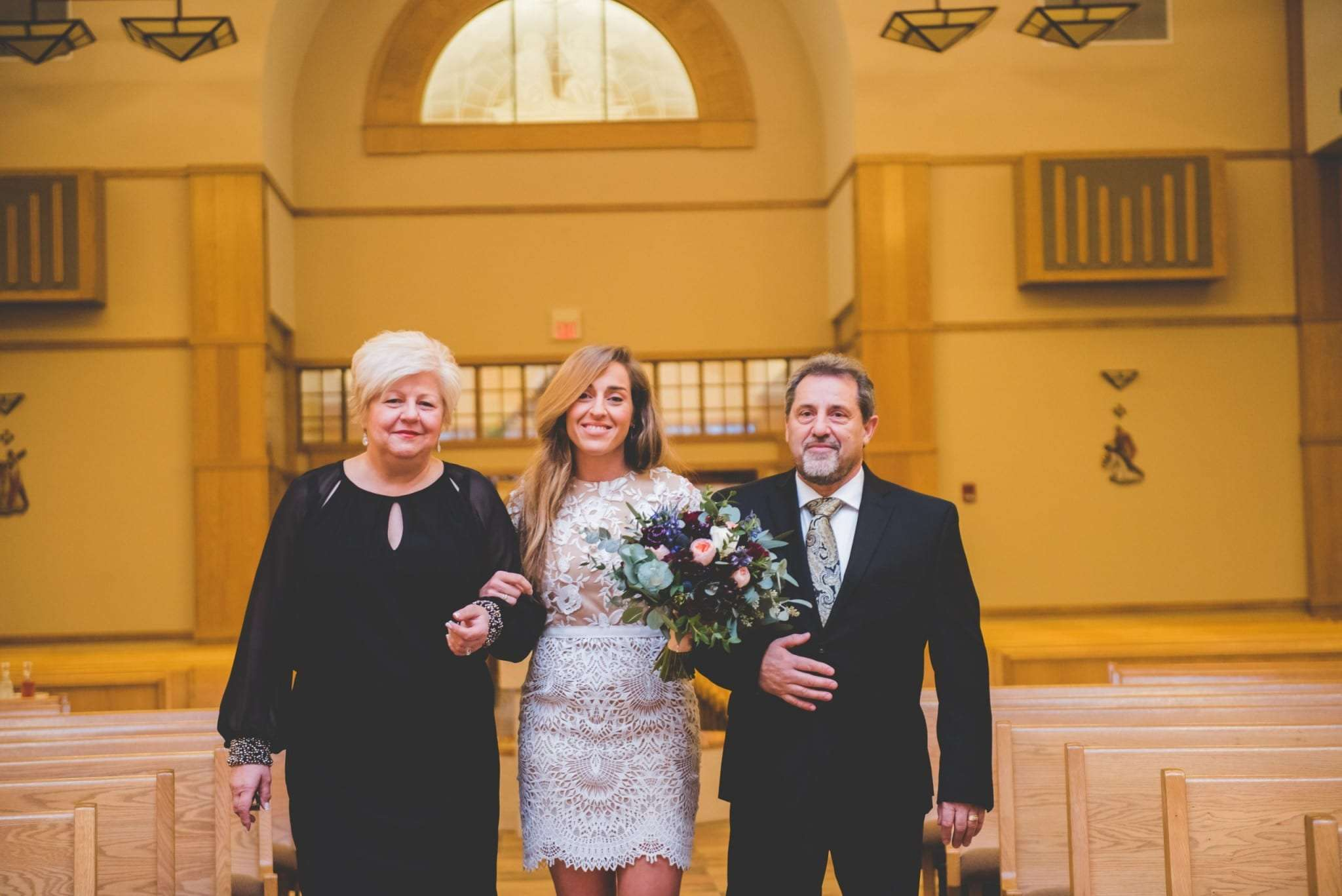 New Jersey micro wedding in church