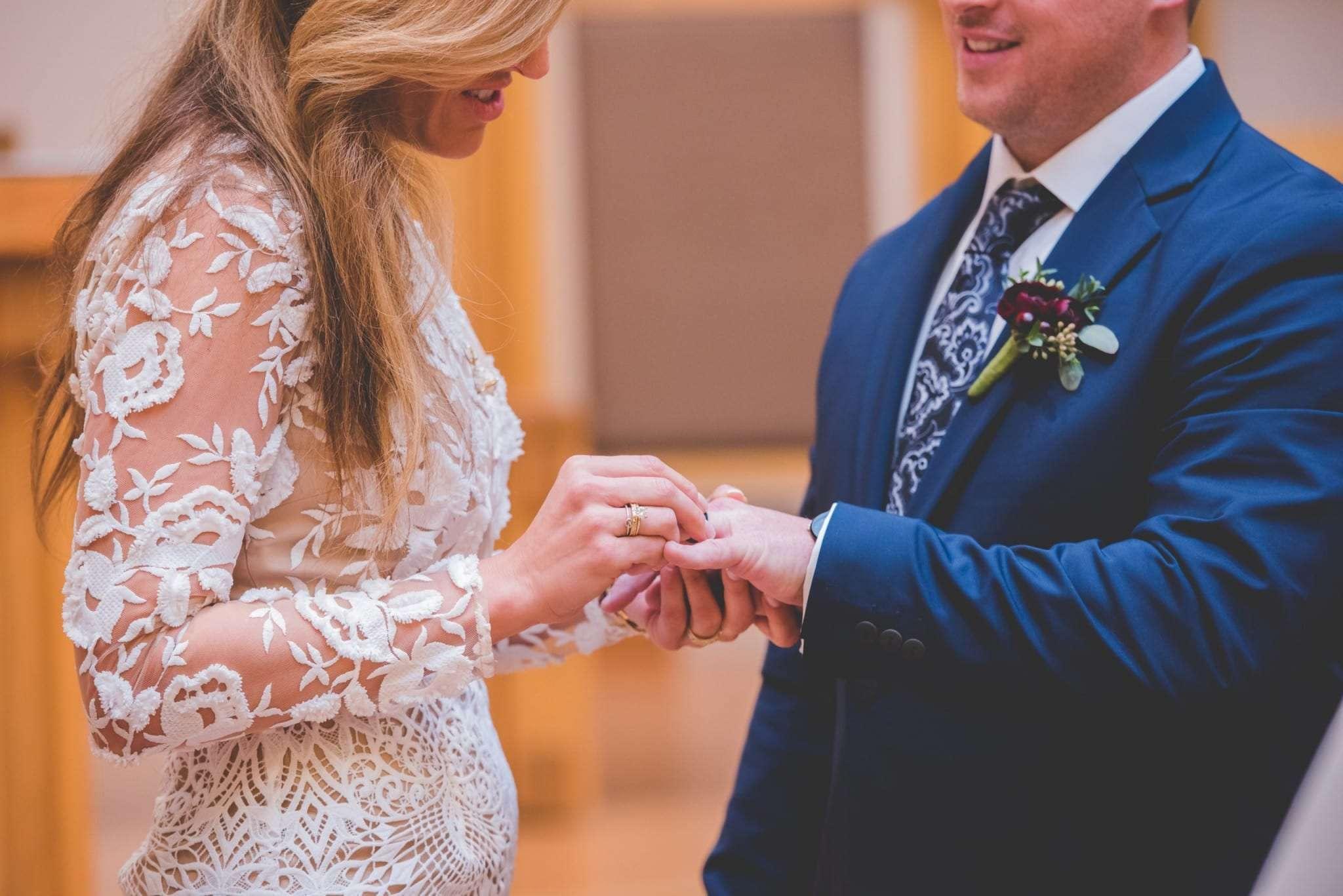 Church elopement photography