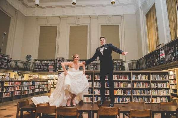 free library of philadelphia wedding photos