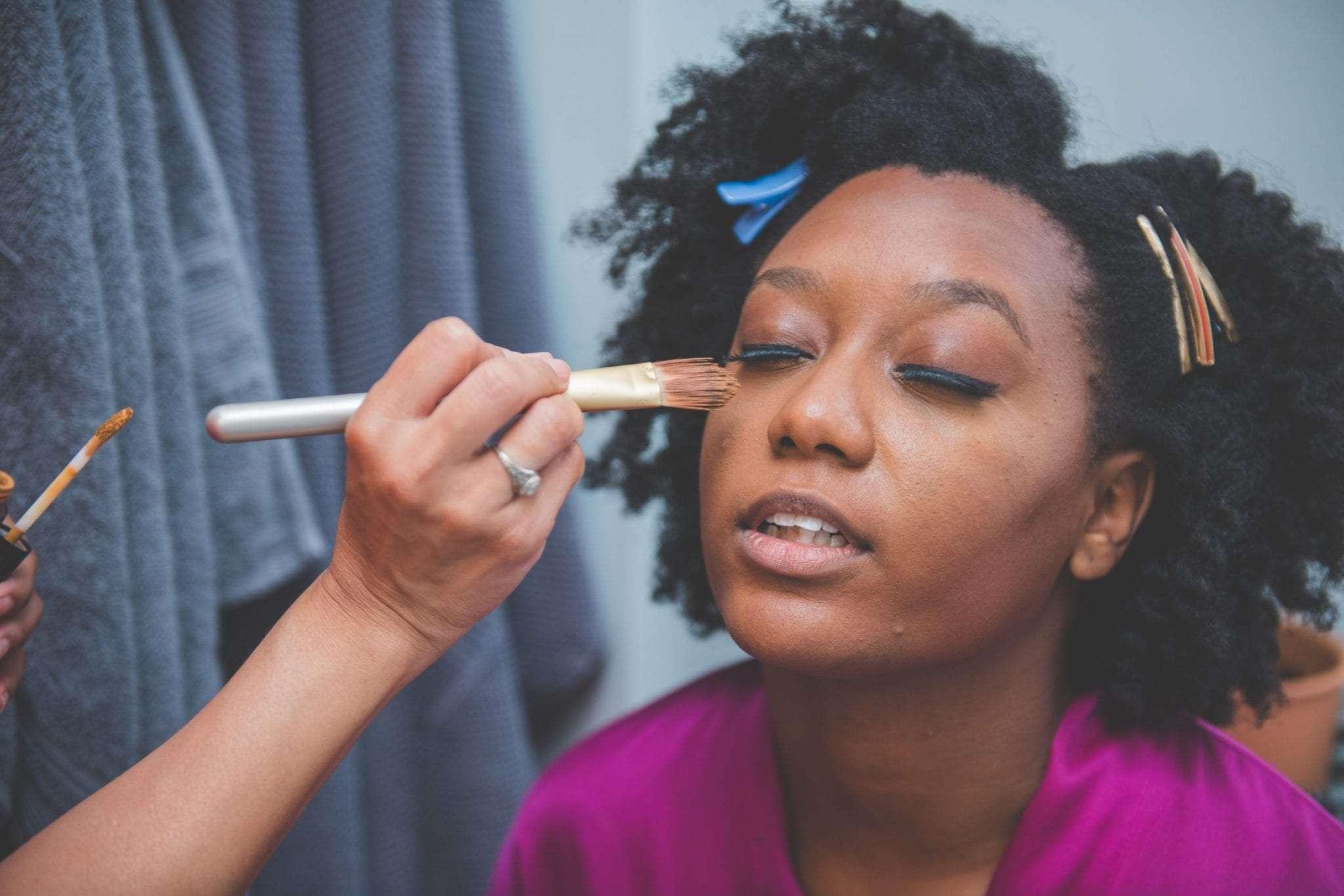 DIY wedding makeup NJ backyard wedding photography