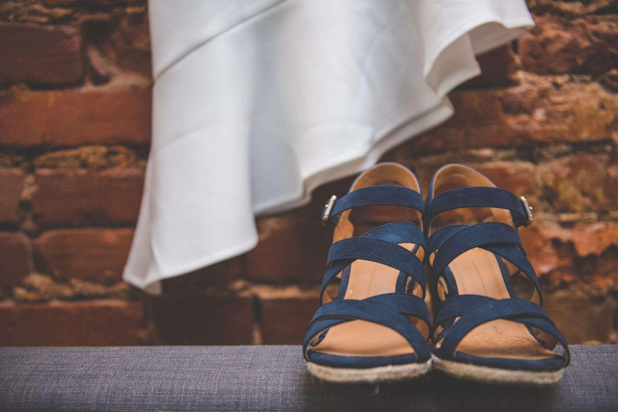 Unique brides shoes blue suede wedding shoes