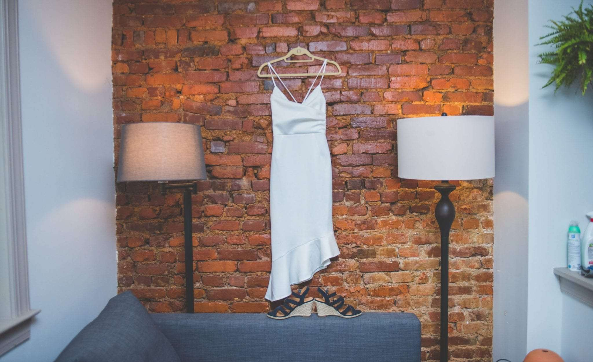 Micro wedding photography in NJ brides dress and shoes
