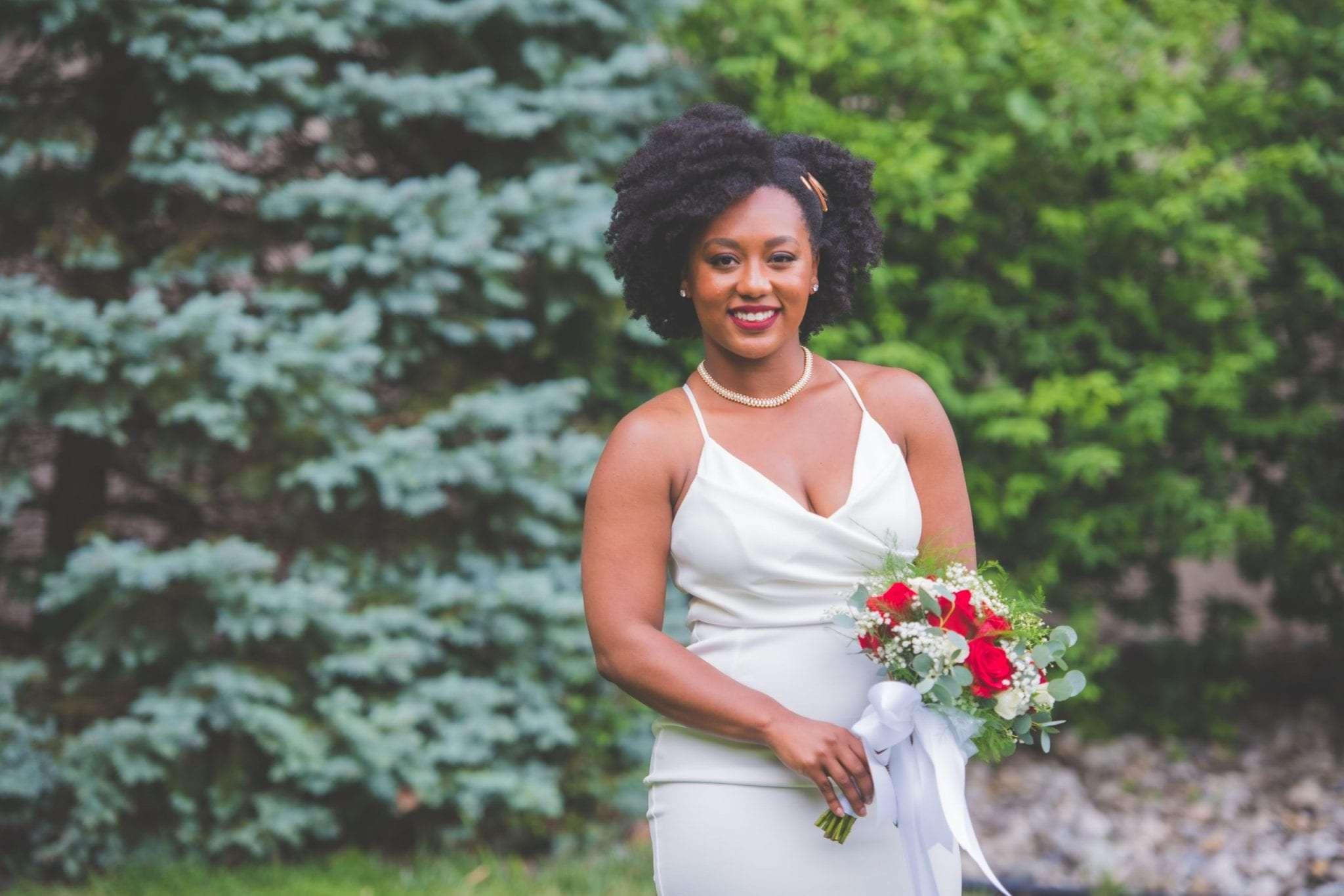 Bride portrait NJ Micro wedding backyard