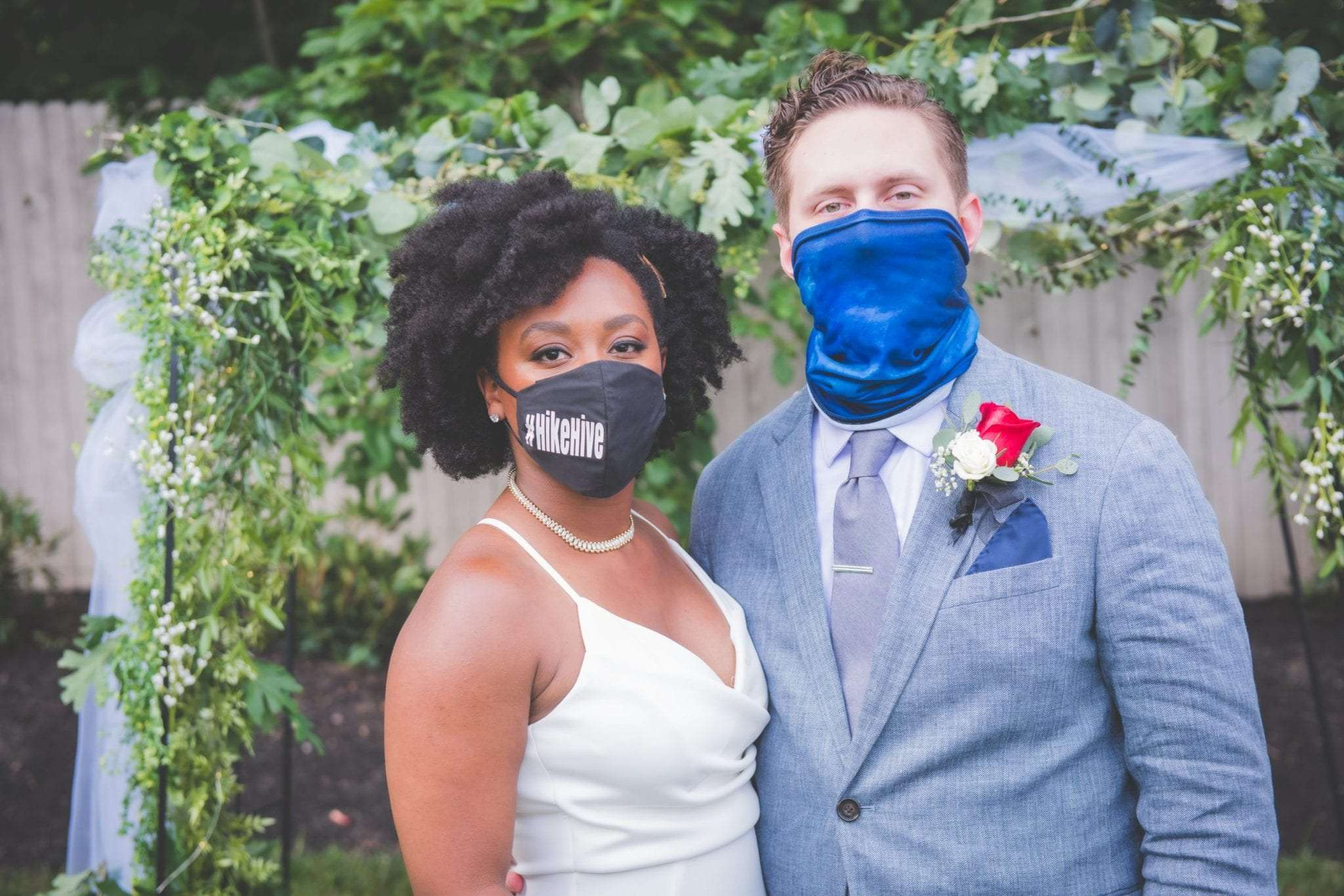 mask portraits NJ wedding photographer