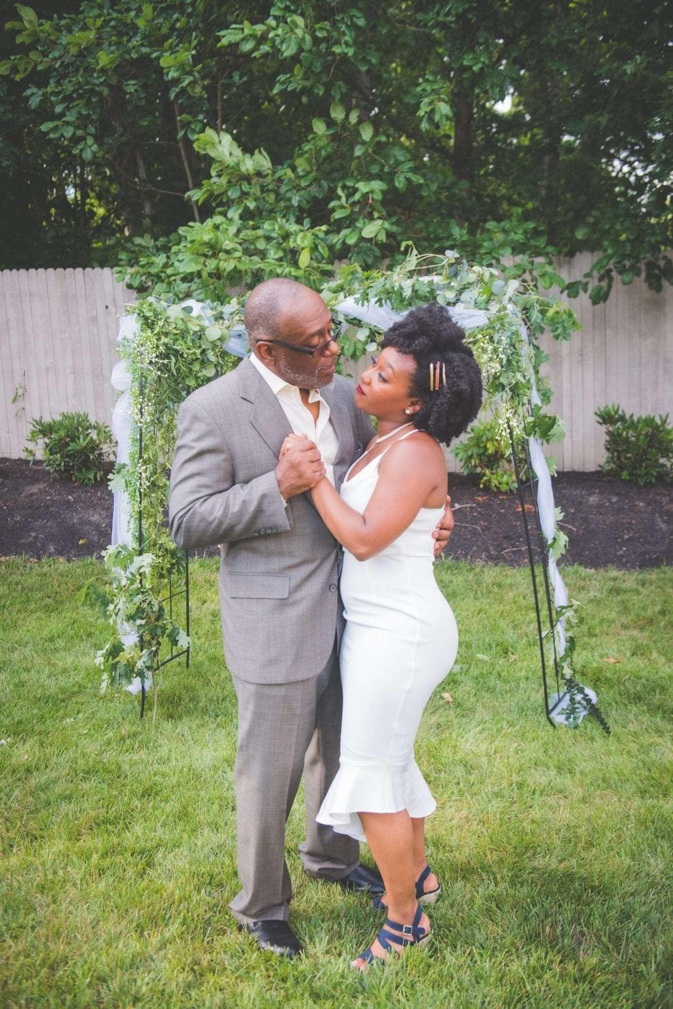 NJ backyard Micro wedding