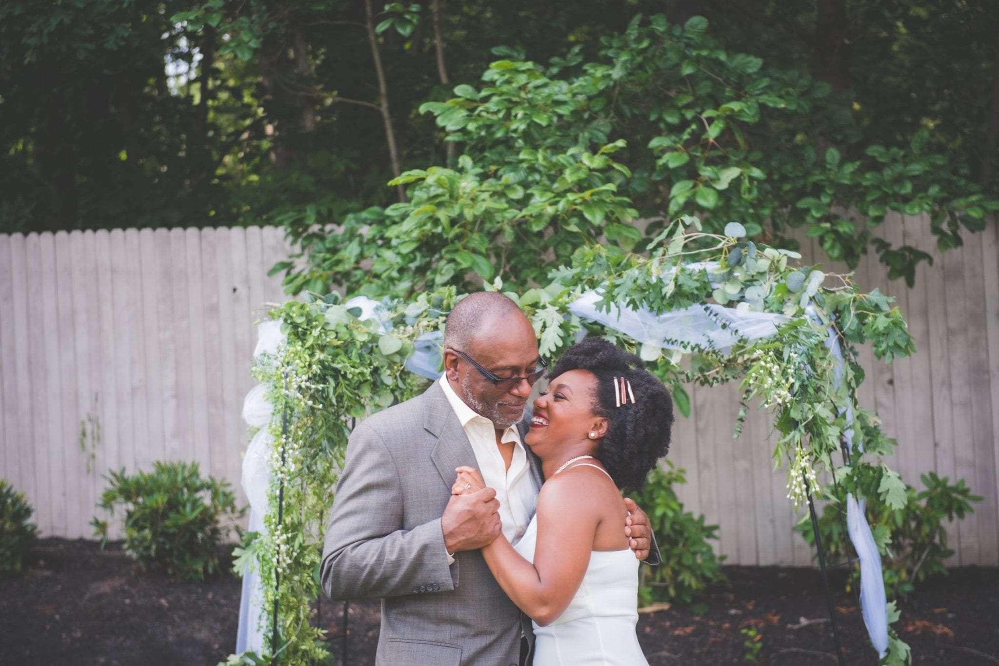 Bride dance with dad social distancing wedding in NJ