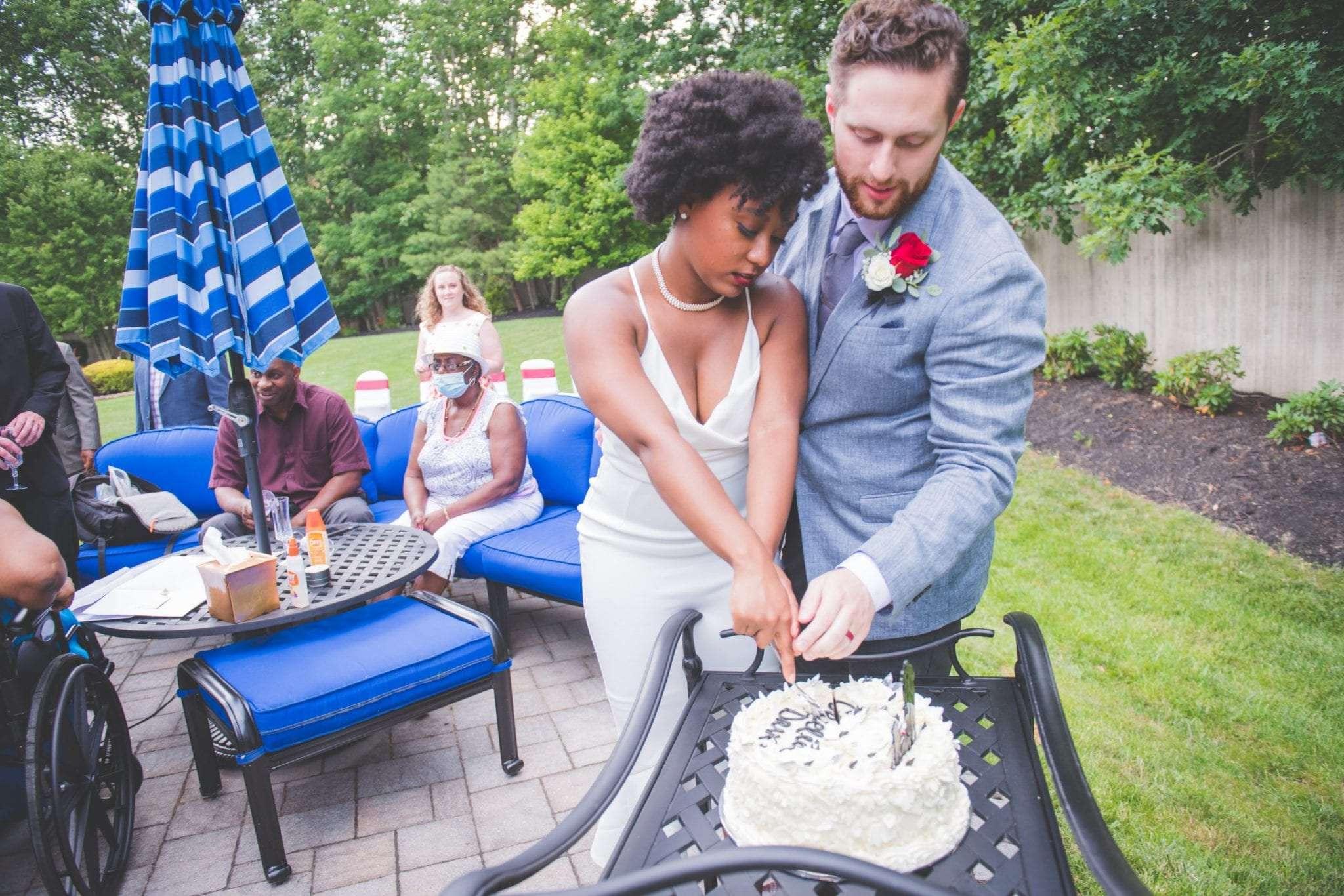 New Jersey backyard Micro wedding