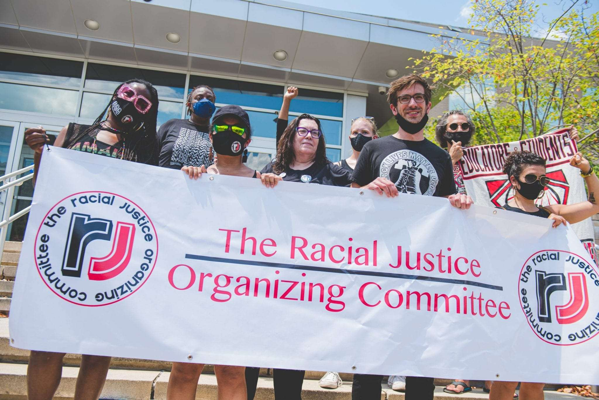 The racial Justice Organizing Committee protest