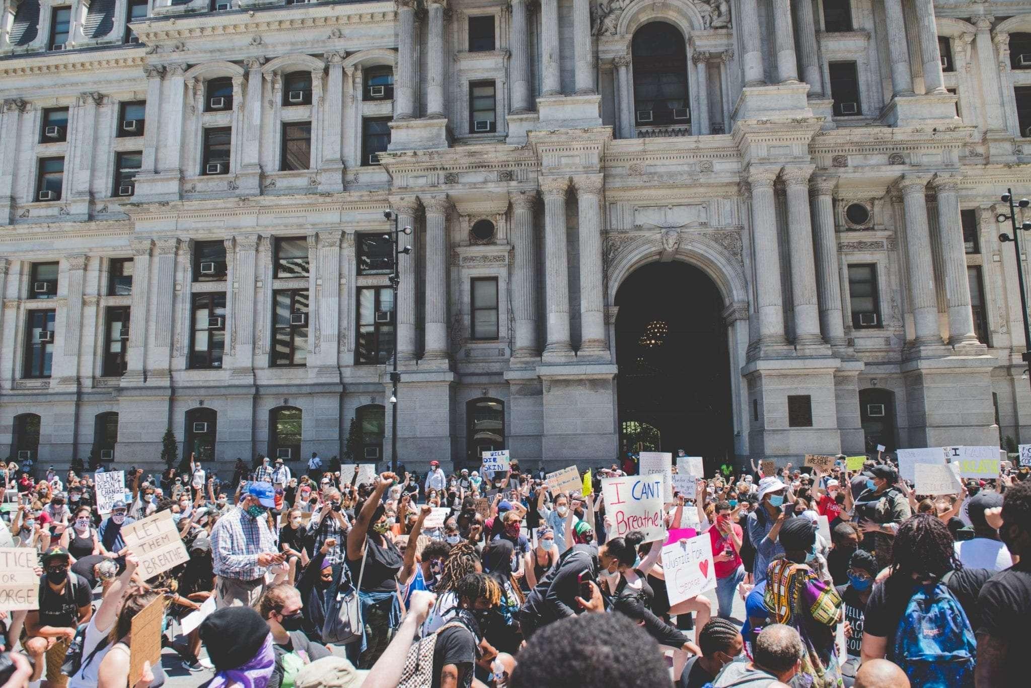 Philadelphia town hall protest George Floyd BLM