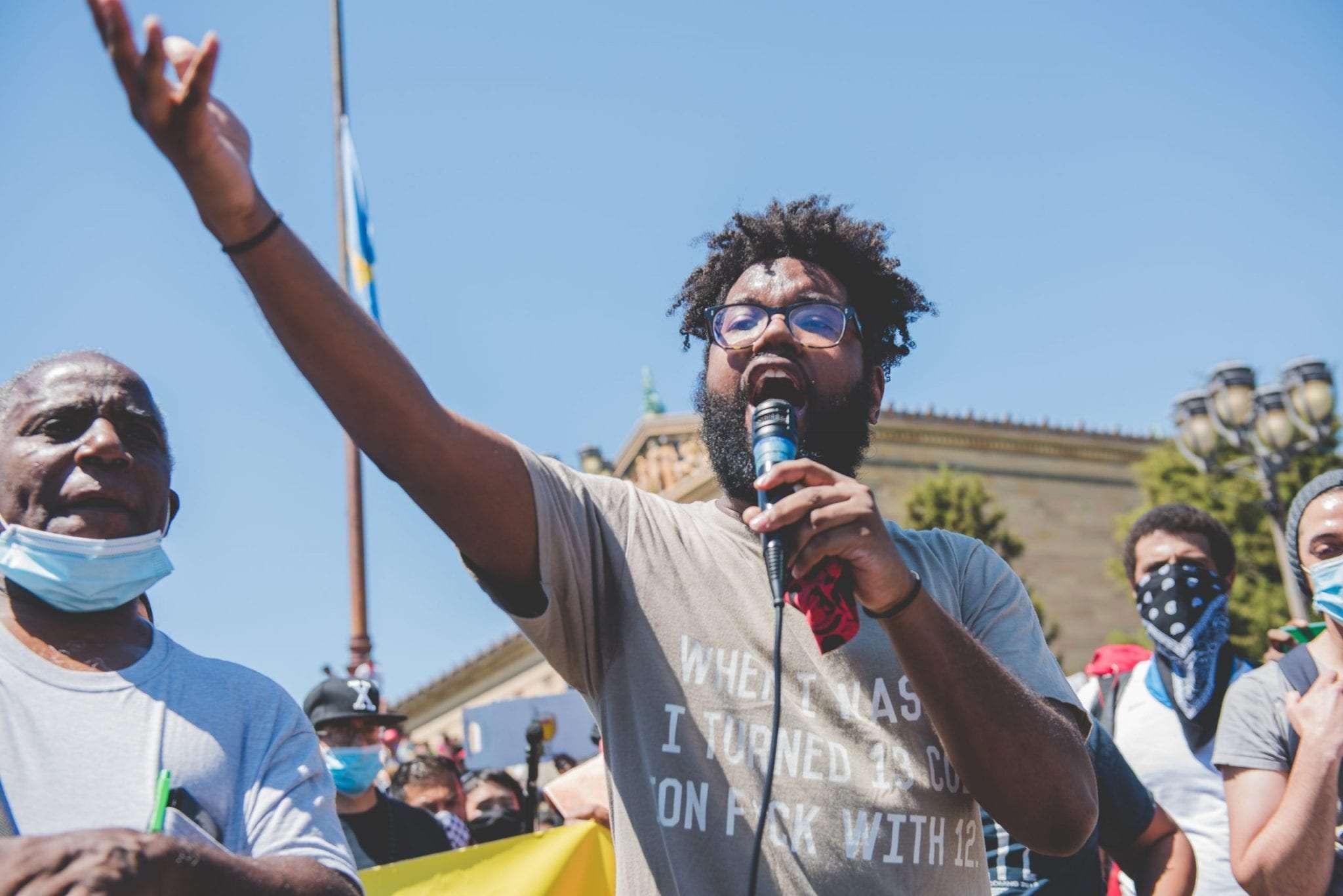 Philadelphia protest George Floyd BLM