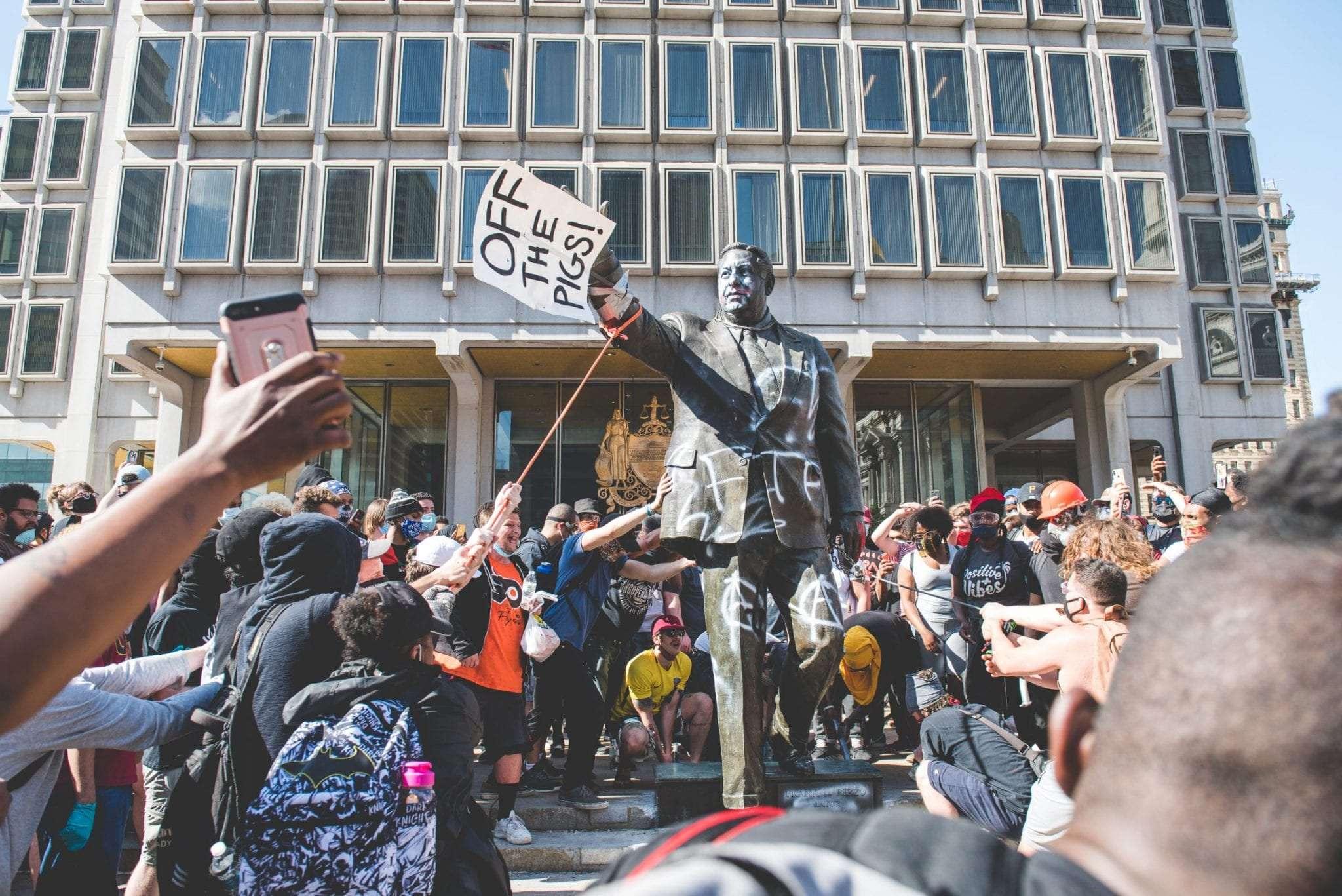Frank Rizzo statue Philadelphia protests