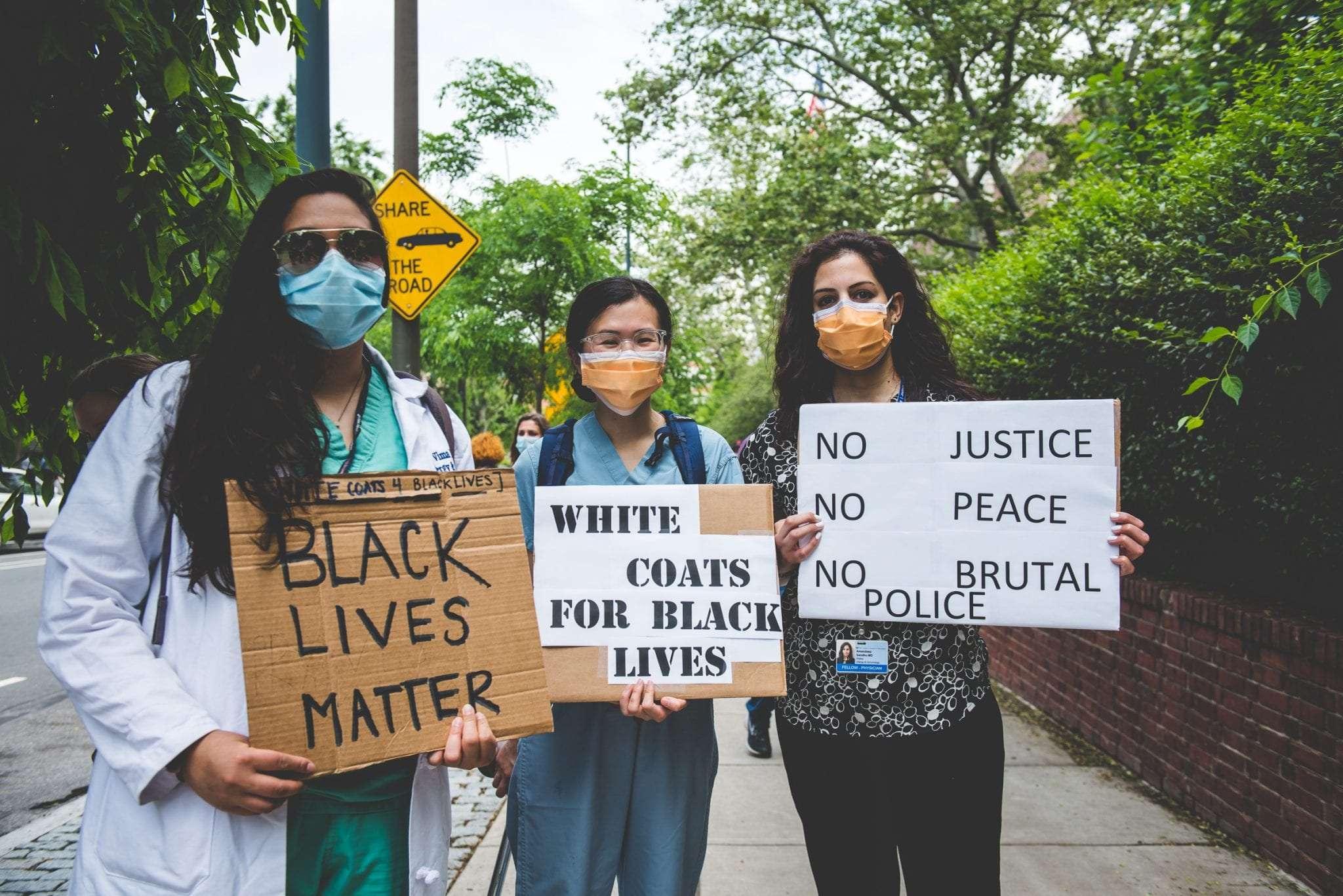 White Coats For Black Lives protest photography Philadelphia