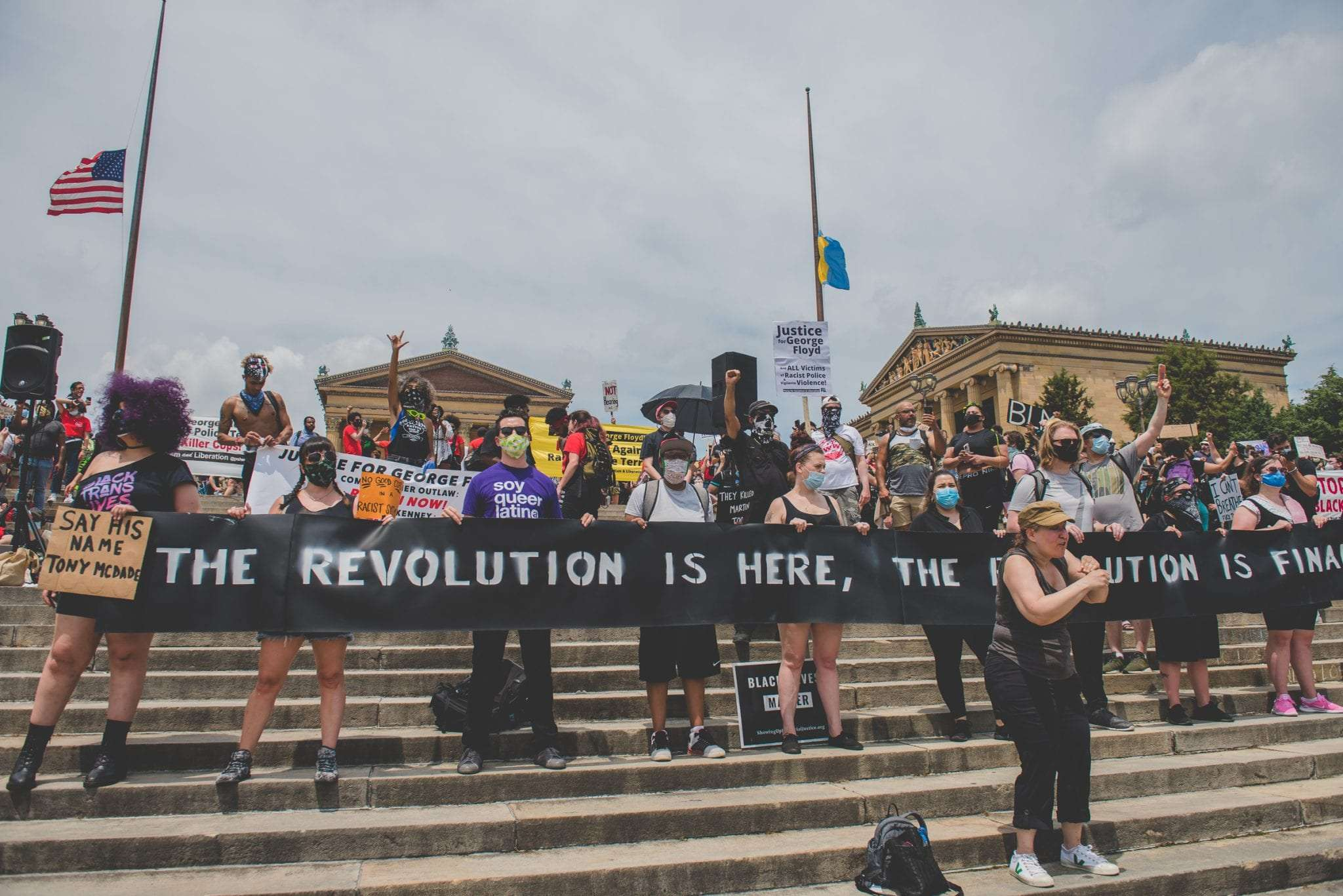 The recolution is in Philadelphia Black Lives Matter protest Photography